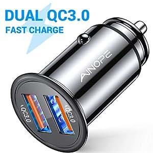 Amazon.com: AINOPE cargador de coche USB, [doble puerto QC3 ...