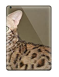 New Tpu Hard Case Premium Ipad Air Skin Case Cover(savannah Cats )