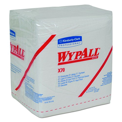 WypAll X70 Extended Use Reusable Wipers (41200), Quarterfold, Long Lasting Performance, White, 12 Packs, 76 Sheets / - Stores Outlet Washington State