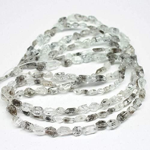 Beads Bazar Natural Beautiful jewellery Natural Herkimer Diamond Quartz Faceted Step Cut Tumble Nugget Gemstone Craft Beads Strand 16