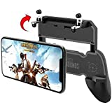 CEUTA® 2 in 1 Mobile Remote Controller Gamepad Holder Handle Joystick Triggers for PUBG L1 R1 Shoot Aim Button for iOS and Android (Black)