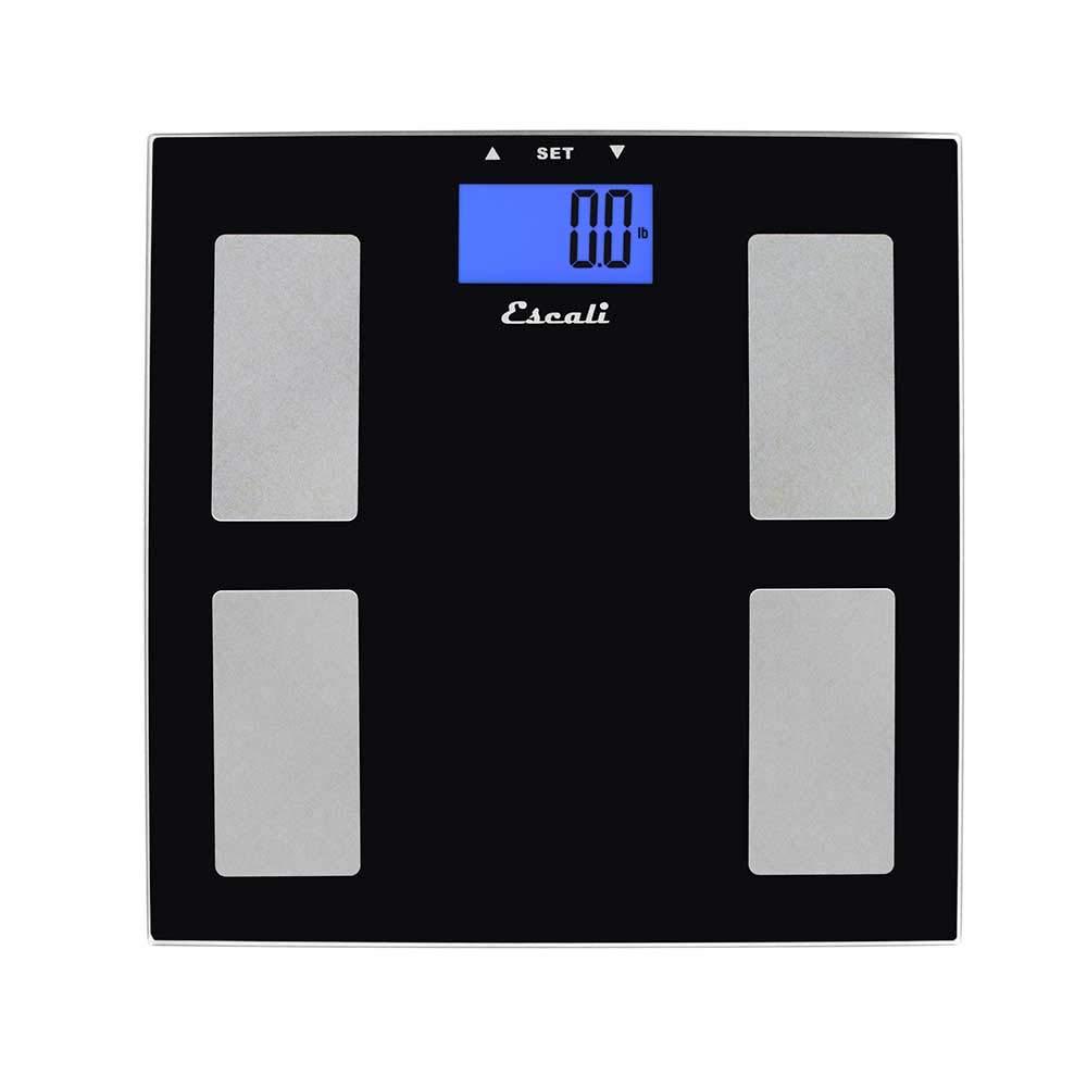 Escali USHM180G Glass Body Fat, Water, Muscle Mass Digital Scale, 400Lb/180Kg