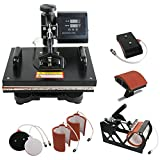 "Arts & Crafts : ZENY Heat Press 12"" x 15"" Pro 6 in 1 Combo Heat Press Machine Digital Multifunction Transfer Sublimation T-Shirt /Mug /Hat /Plate"