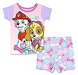 Paw Patrol Marshall And Skye Little Girls 2 Piece Short Pajama Set (5T)