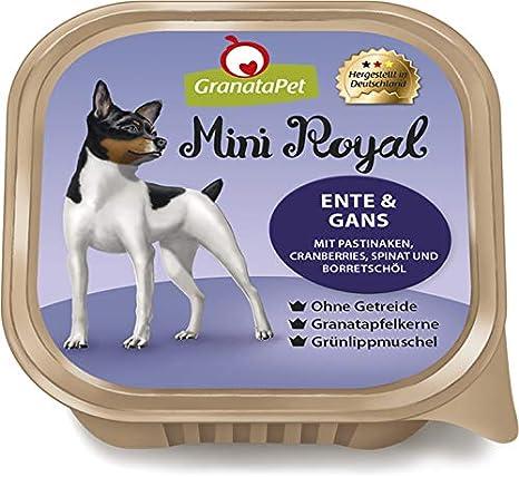GranataPet Mini Royal Ente /& Gans mit Pastinaken Cranberries Spinat und Borretsch/öl
