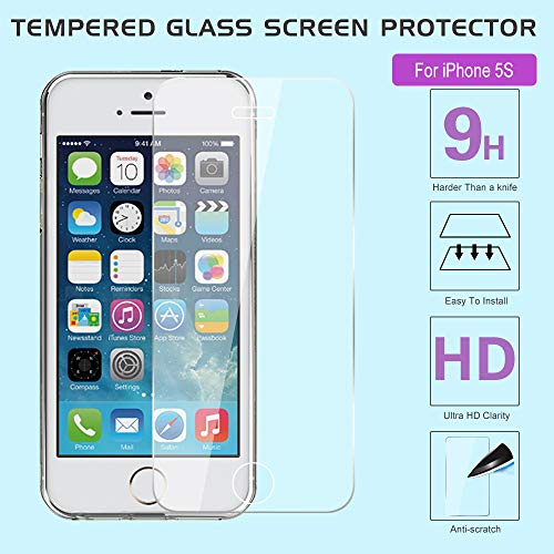 572c860783 iPhone 5S Case, iPhone SE/SE 2 Case with 2pcs Tempered Glass - Import It All