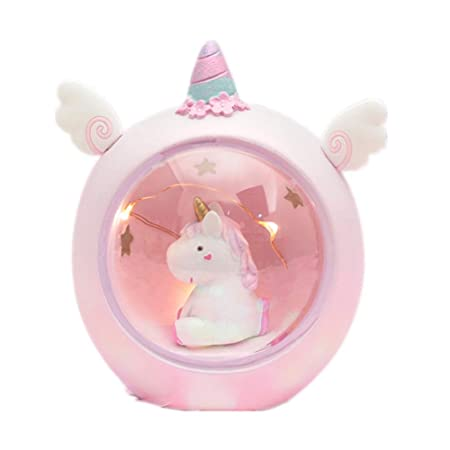 Surenhap Unicornio LED Luz de la Noche Estrella L/ámpara de Regalo del Estudiante para Ni/ños Habitaci/ón Decoraci/ón del Hogar L/ámpara de Escritorio