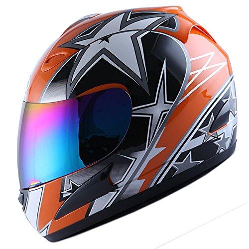 WOW Motorcycle Full Face Helmet Street Bike Racing Star - Stars Helmets Street Bikes