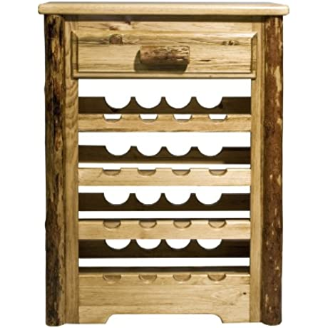 Montana Woodworks Glacier Country Collection Wine Cabinet