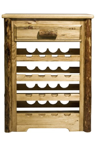 Montana Woodworks MWGCWR Glacier Country Collection Wine Cabinet