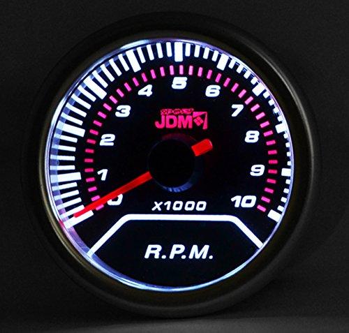 (Ajp Distributors Universal Jdm Smoked Tint Analog Needle Tachometer Rpm Meter Gauge 10K Display)