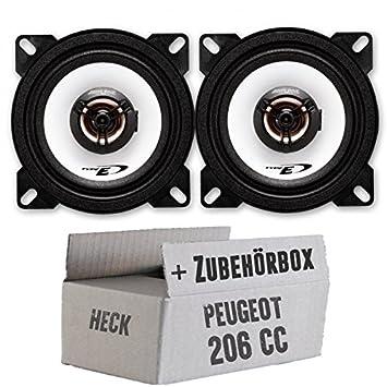 Peugeot 206 CC HMF - picea SXE-1025S - 10 cm - kit de montaje para sistema coaxial: Amazon.es: Electrónica