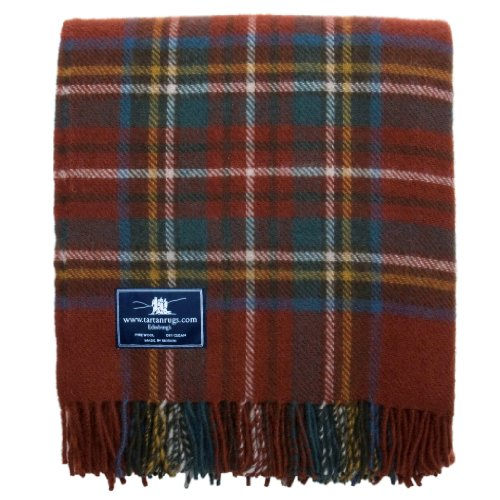 Antique Royal Stewart Tartan Premium Wool Throw (Antique Wool Blanket)