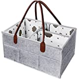 Baby Diaper Caddy Organizer - XL Cotton Diaper Storage...