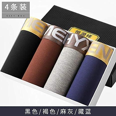 WXNLEAI Ropa interior para hombres Boxers para hombres Pantalones de algodón sexy para hombres Pantalones transpirables