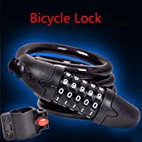 Ounice Bike Lock Combination High Security Thickness Steel Combination Coiling Cable Lock