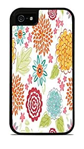 Blooms Bursts Flower Black 2-in-1 Protective Case with Silicone Insert For SamSung Galaxy S4 Phone Case Cover