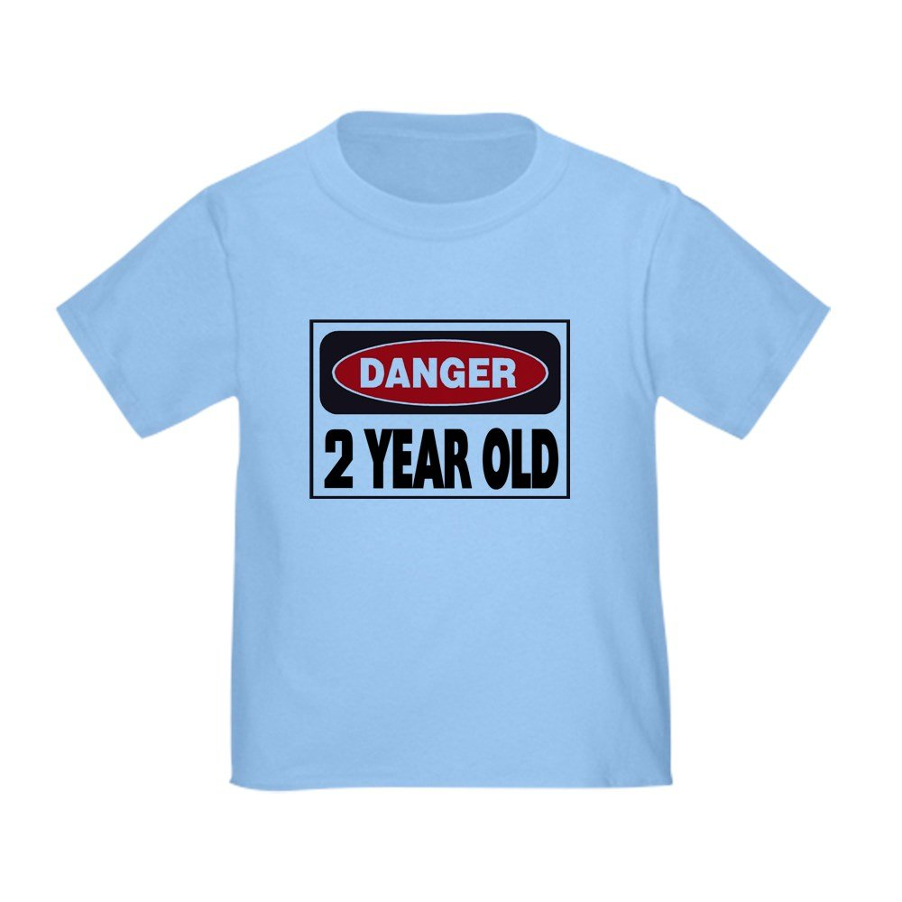 CafePress - 2 Year Old Danger Sign - Cute Toddler T-Shirt, 100% Cotton