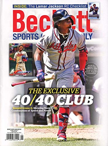 Beckett Sports Card Monthly Price Guide Magazine November 2019 Braves Ronald Acuna Jr