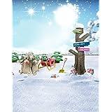 Winter Christmas Elk Tree Photography Backdrops Photo Props Studio Background 5x7ft