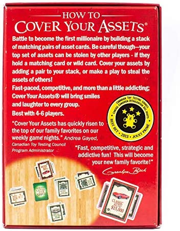 Grandpa Beck's Cover Your Assets Card Game | Fun Family-Friendly Set-Collecting Game | Enjoyed by way of Kids, Teens, and Adults | From the Creators of Skull King | Ideal for 4-6 Players Ages 7+