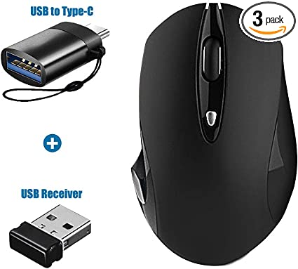 Cordless Adjustable Cursor Click Mouse USB Adapter 2.4GHz Wireless Gaming