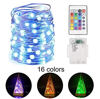 atropos 16 colors 33ft 50 led changing string lights -4 mode decorative string  lights with