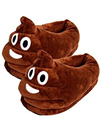 YINGGG Emoji Slippers Plush Fluffy House Shoes (Poop)