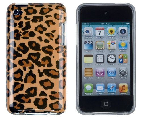 New I&t Case - Leopard Print Flexible TPU Gel Case with Clear Sides for Apple iPod Touch 4, 4G (4th Generation)