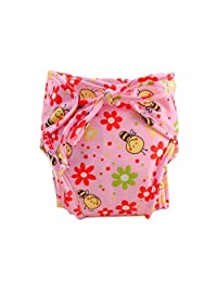 [Cute Bee] Infant Swim Diaper with Ties, Adjustable and Stylish, Size Medium