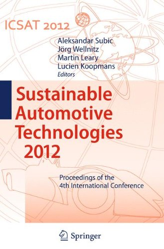 Sustainable Automotive Technologies 2012: Proceedings of the 4th International Conference