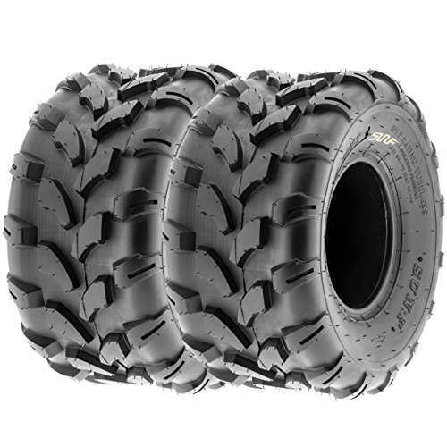 SunF Knobby ATV Sport Tires 19x9.5-8 19x9.5x8 4 PR A003 (Set Pair of 2)