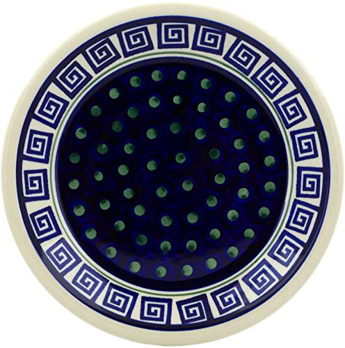 Polish Pottery 9½-inch Salad Plate (Greek Key Theme) + Certificate of Authenticity - Greek Key Salad Plate