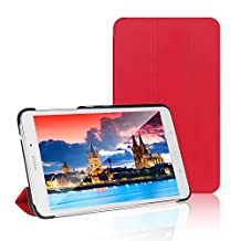 Tab 4 7 Case, JETech® Gold Slim-Fit Smart Case Cover for Samsung Galaxy Tab 4 7 (7.0 inch) Tablet (Red)