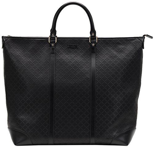 Gucci-Black-GG-Diamante-Leather-Top-Handle-Large-Tote-Bag