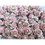 100-Pcs-Hight-Quality-Pink-Color-Mulberry-Paper-Flowers-of-Wedding-Roses-15mm-By-Thai-Decorated