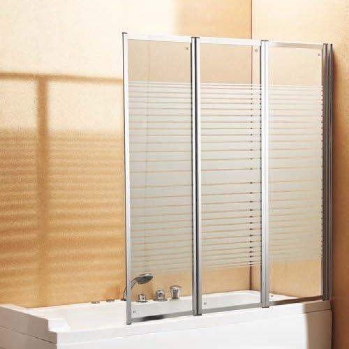 Windy Baño/Ducha Cubículo Unidad Tabique de Vidrio con el patrón de serigrafía de 140 x 130 cm: Amazon.es: Hogar