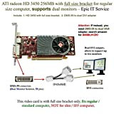 ATI Radeon HD 3450 256MB low profile graphics card (full size bracket, DMS-59 to dual DVI adapter) by ATI