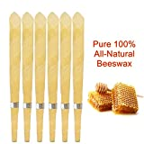 #5: American Candling Co. - 10 Candles (5 Pairs) 100% All-Natural Unscented Beeswax Hollow Cone Candles