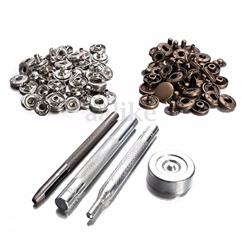 12mm 30 Poppers Snap Fasteners Press Stud Kit Tool Sewing Leather Craft - Macy's Timings