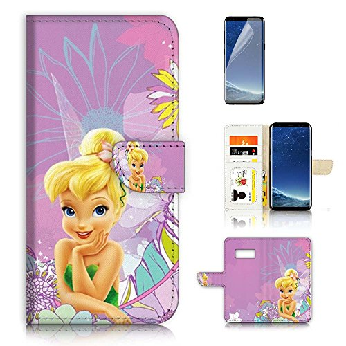 ( For Samsung S8 , Galaxy S8 ) Flip Wallet Case Cover & Screen Protector Bundle - A20414 TinkerBell