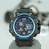 ChezAbbey Men' s Digital watches Date Week Alarm Military 12H/24H Waterproof Analog Wristwatch for Sports