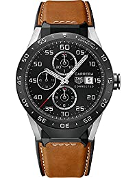 Tag Heuer Connected SAR8A80.FT6070 Connected Brown Calfskin Leather Mens Smartwatch