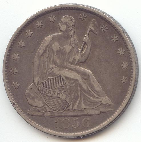 1856 O Seated Liberty Half Dollar Extra Fine (1856 Half Dollar)