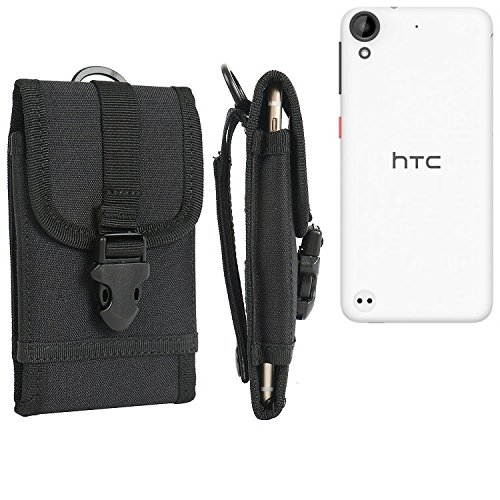 bolsa del cinturón / funda para HTC Desire 530, negro   caja del teléfono cubierta protectora bolso - K-S-Trade (TM)