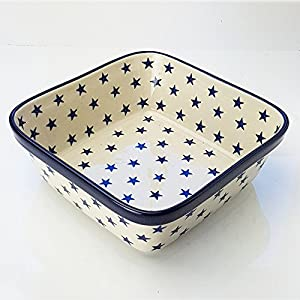 Polish Pottery Square Oven Serving Dish – Morning Star – 20cm x 20cm