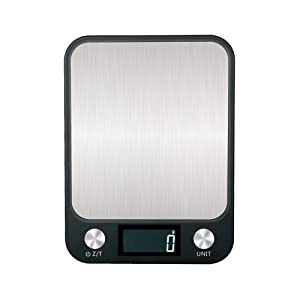 Food Scale Digital Kitchen Scale with Large Back-lit LCD Display, Chargeable, 1g/0.1oz Precise Graduation