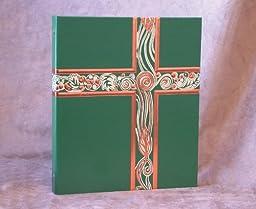Ceremonial Binder 1# Spine - Green with Copper Foil