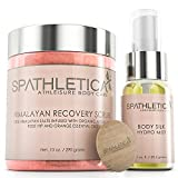 Cleansing Crystals With Sea Water - Himalayan Salt Body Recovery Scrub + Body Silk Hydro Mist - The Ultimate Gift Set for Healthy, Hydrated Radiant Skin - Deep Cleansing Exfoliator with Argan, Lychee, Rose Hip & Avocado Oil