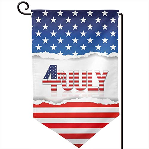 hwhwiko Garden Flag,American Flag Old Glory Design with Stars and Stripes Pattern Patriotic Image,12.5x18.5 inch ()